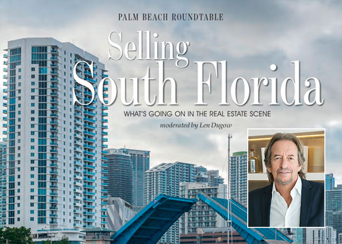 Len Dugow moderates south florida real estate developer panel
